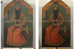 Fath 'Ali Shah - before and after restoration